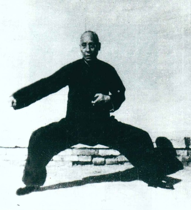 Practicing Chen style Tai Chi Chuan or Taijiquan at Long Tou Tai Chi School in Yangshuo China